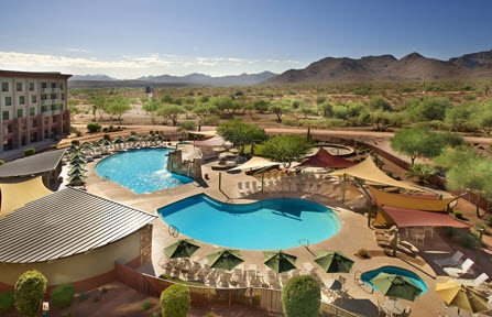 Amethyst Spa at Wekopa Resort & Conference Center pool